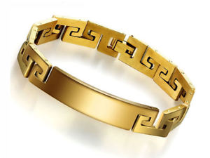 【送料無料】ブレスレット アクセサリ― ステンレスkゴールドメッキメンズブレスレットスチールfashionable stainless steel with 18k gold plated mens bracelet