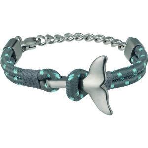【送料無料】ブレスレット アクセサリ― ブレスレットジャンパオスグレーステンレススチール breil bracelet jumper male grey stainless steel tj2614
