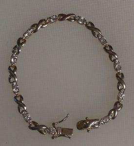 【送料無料】ブレスレット アクセサリ― ロスシモンズスターリングシルバーテニスブレスレットross simons 925 sterling silver cz infinity tennis bracelet