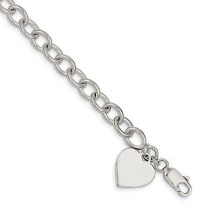【送料無料】ブレスレット アクセサリ― スターリングシルバーファンシーリンクブレスレットsterling silver fancy link bracelet