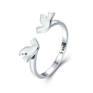 【送料無料】ブレスレット アクセサリ― バレンタインデースターリングシルバーvalentine day gift 925 sterling silver pure love doves love finger rings