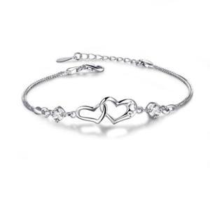 【送料無料】ブレスレット アクセサリ― ハートブレスレットスターリングシルバーeveru heart bracelet for women,never separated, sterling silver love mom