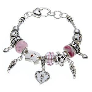 【送料無料】ブレスレット アクセサリ― ナースブレスレットビーズpammyj nurse bracelet with charms beads for gifts