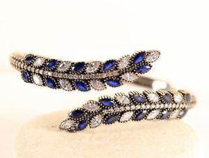 【送料無料】ブレスレット アクセサリ― トルコハンドメイドオスマンサファイアシルバーブレスレットturkish jewelry handmade ottoman sapphire 925ksterling silver bracelet