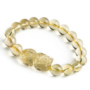 【送料無料】ブレスレット アクセサリ― シトリンドラゴンビーズブレスレットnatural citrine quartz crystal genuine dragon pi xiu beads bracelet 10mm aaaa