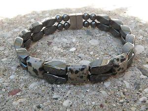 【送料無料】ブレスレット アクセサリ― ヘマタイトブレスレットジャスパーシリーズmagnetic hematite bracelet anklet 2 row delmation jasper 3 stone series