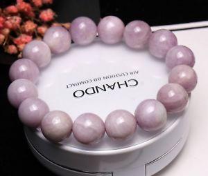 【送料無料】ブレスレット アクセサリ― クリスタルラウンドビーズブレスレット13mm genuine natural purple kunzite crystal round beads bracelet aaa