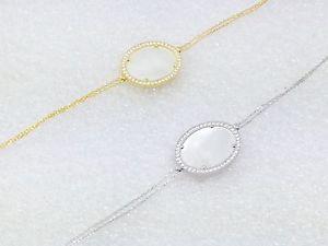 【送料無料】ブレスレット アクセサリ― ゴールドパールブレスレットスターリングシルバークリスタルファッションホワイトgold plated white mother of pearl bracelet sterling silver crystal fashion jewel