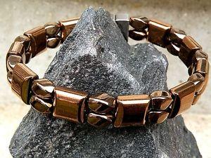 【送料無料】ブレスレット アクセサリ― ブレスレットmens womens 100 copper magnetic heamatite bracelet anklet 2 row therapeutic
