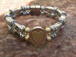 【送料無料】ブレスレット アクセサリ― メンズウィメンズシルバーヘマタイトブレスレットスライダmens womens silver magnetic hematite bracelet anklet 2 row love nest slider