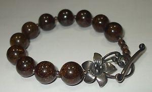 【送料無料】ブレスレット アクセサリ― スターリングシルバーボールビーズブレスレットsilpada sterling silver 925 brown bronzite 12mm ball bead bracelet toggle b1365
