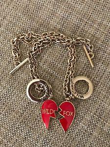 【送料無料】ブレスレット アクセサリ― リンクエナメルブレスレットwildfox friend heart link charm enamel bracelets