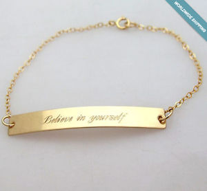 【送料無料】ブレスレット アクセサリ― パーソナライズゴールドバーブレスレットネームプレートブレスレットブレスレットpersonalized gold bar bracelet nameplate bracelet skinny bracelet for her gift