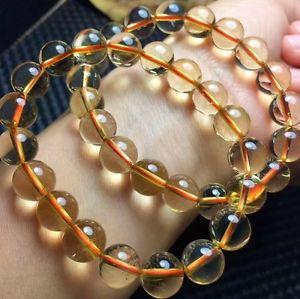 【送料無料】ブレスレット アクセサリ― ブレスレットジュエリーnatural yellow quartz crystal ball bracelet jewelry2093