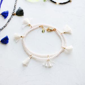 【送料無料】ブレスレット アクセサリ― ライリスタルラップブレスレットshashi laila crystal wrap bracelet bone