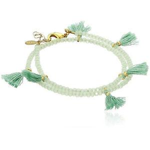 【送料無料】ブレスレット アクセサリ― ライリスタルラップブレスレットミントshashi laila crystal wrap bracelet mint