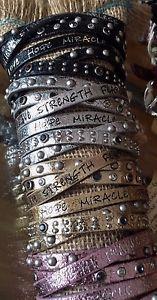 【送料無料】ブレスレット アクセサリ― メタリックブレスレットストランドラップgood works leather metallic bracelet crystals 6 strand wrap magnetic closure