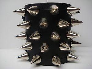 【送料無料】ブレスレット アクセサリ― スパイクブレスレットデスメタルleather spiked bracelet death metal mdlb0214 impaled