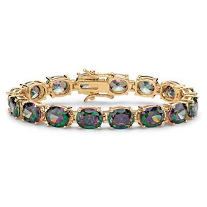 【送料無料】ブレスレット アクセサリ― kテニスブレスレット4064 tcw mystic cz 14k goldplated tennis bracelet 725