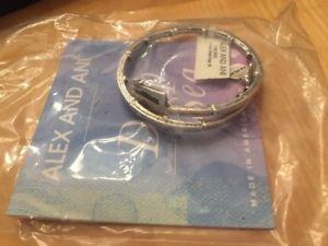 【送料無料】ブレスレット アクセサリ― アレックストライデントメタルラップシルバーブレスレットalex and ani trident metal wrap silver bracelet *, box