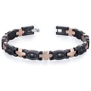 【送料無料】ブレスレット アクセサリ― メンズタングステンセラミックトーンリンクブレスレットsuave mens tungsten ceramic copper tone eyeball link bracelet