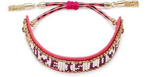 【送料無料】ブレスレット アクセサリ― レベッカシードビーズブレスレットピンクrebecca mink seed bead love is love leather bracelet pink  free ship