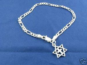 【送料無料】ブレスレット アクセサリ― メンズデビッドクロスブレスレットメシアニックmens messianic star of david and cross charm bracelet