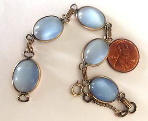 【送料無料】ブレスレット アクセサリ― アンティークムーンストーンレディースブレスレットantique 120 12k gf 5 moon stone ladies bracelet 75