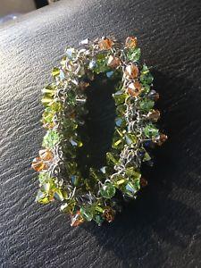 【送料無料】ブレスレット アクセサリ― スターリングシルバークリスタルビーズブレスレット listingamerican sterling silver crystal bead bracelet