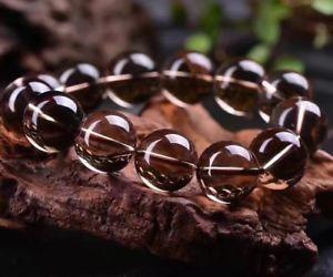 【送料無料】ブレスレット アクセサリ― ナチュラルブラウンクオーツスモーキークオーツビーズブレスレットnatural brown quartz smoky quartz crystal round carved beads bracelet 18mm aaaa