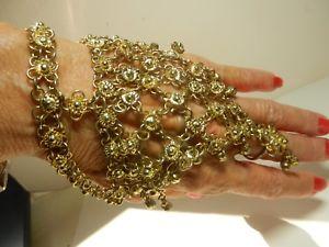 【送料無料】ブレスレット アクセサリ― ハンドメイドブレスレットスレーブリングベリーダンスビンテージgold plated hand made bracelet hand slave ring belly dancing middle east vintage