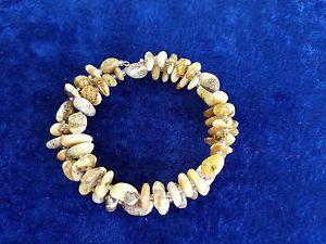 【送料無料】ブレスレット アクセサリ― ナチュラルオレンジワイヤービーズブレスレット100 natural baltic amber mixed colour wire beads bracelet handcrafted