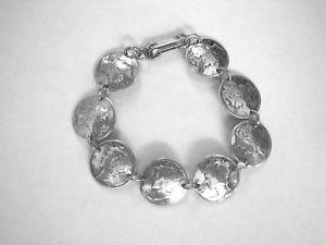 【送料無料】ブレスレット アクセサリ― マーキュリーダイムブレスレットドームドリルサイドmercury dime bracelet~nicely domeddrilled side to side