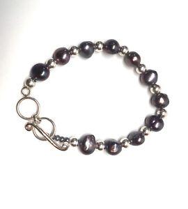 【送料無料】ブレスレット アクセサリ― パールスターリングシルバービーズトグルブレスレットsilpada freshwater pearl and sterling silver bead toggle bracelet