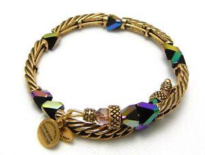 【送料無料】ブレスレット アクセサリ― アレックスブレスレットビンテージオーロラパープルビーズalex and ani bracelet vintage 66 gold aurora borealis purple bead rare
