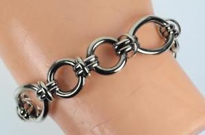 【送料無料】ブレスレット アクセサリ― スターリングシルバーインチリンクブレスレットグラムsterling silver 7 34 inch oval link articulated bracelet, 2060 grams, l2368