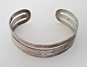 【送料無料】ブレスレット アクセサリ― ビンテージオープンカフブレスレットvintage authentic sterling silver ag 925 open cuff bracelet