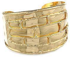 【送料無料】ブレスレット アクセサリ― デヴォンリーエンボスkゴールドメッキカフブレスレット large devon leigh embossed 18k gold plated 7 cuff bracelet hammered