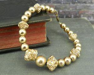 【送料無料】ブレスレット アクセサリ― ゴールドファンシービーズブレスレットgold filled fancy beaded bracelet