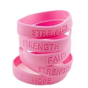 【送料無料】ブレスレット アクセサリ― 500pcピンクribbonアウェアネスブレスレットsurvivor faith strengthhope500pc pink ribbon breast cancer awareness bracelets survivor faith st