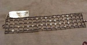 【送料無料】ブレスレット アクセサリ― スターリングシルバーメタルメッシュブレスレットワイドクロスsterling silver metal mesh bracelet wide cross liz claiborne design nwt