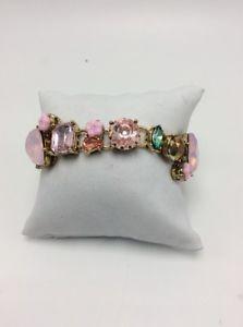 【送料無料】ブレスレット アクセサリ― ドルジョンソンゴールドトーンピンクストーンブレスレット65 betsey johnson gold tone pink stone amp; crystal bracelet k1zz