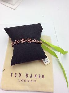 【送料無料】ブレスレット アクセサリ― ドルテッドベーカーローズゴールドトーンエナメルローズブレスレット79 ted baker rose gold tone elicia enamel rose bracelet a252