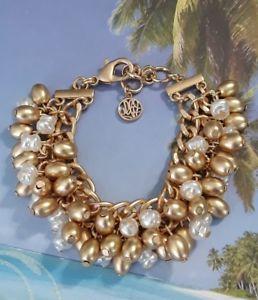 【送料無料】ブレスレット アクセサリ― ゴージャスパールサテンゴールドビーズピューリッツァーブレスレットgorgeous pearl and satin gold bead bracelet by lilly pulitzer