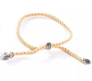 【送料無料】ブレスレット アクセサリ― デビッドシルクコードブレスレットdavid yurman silver and yellow silk cord adjustable bracelet nwot *