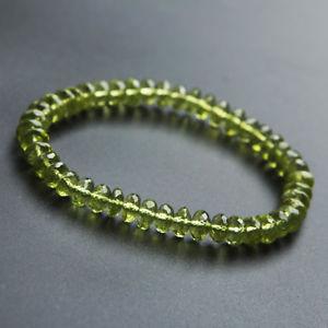 【送料無料】ブレスレット アクセサリ― ペリドットブレスレット6mmaaaaagenuine natural green peridot gemstone clear abacus beads bracelet 6mm aaaaa