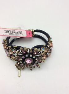 【送料無料】ブレスレット アクセサリ― 65ドルベッツィージョンソンピンクjb1c65 betsey johnson gold tone pink crystal flower hinged bracelet jb1c