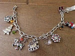 【送料無料】ブレスレット アクセサリ― ブライトンnwtクリスマスwonderllandチャームブレスレットbrighton nwt christmas wonderlland charm bracelet