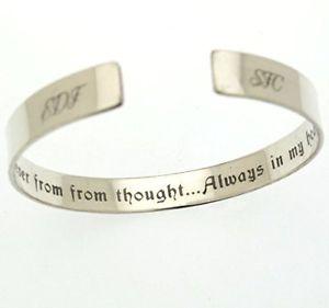 【送料無料】ブレスレット アクセサリ― ハートブレスレットパーソナライズスターリングシルバーカフメモリalways in my heart bracelet personalized sterling silver cuff memory jewelry