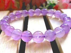 【送料無料】ブレスレット アクセサリ― アメジストラウンドビーズブレスレット9mm natural light color quartz crystal amethyst round beads bracelet gift bl3899